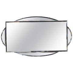French Art Deco Hanging Mirror