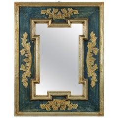 Midcentury Florentine Painted & Gilded Mirror
