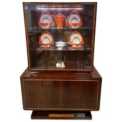 1930s French Art Deco China Cabinet in Style of Ruhlmann