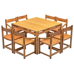 Jordi Casablanca Muntañola Dining Set in Pine with 'S5' Armchairs