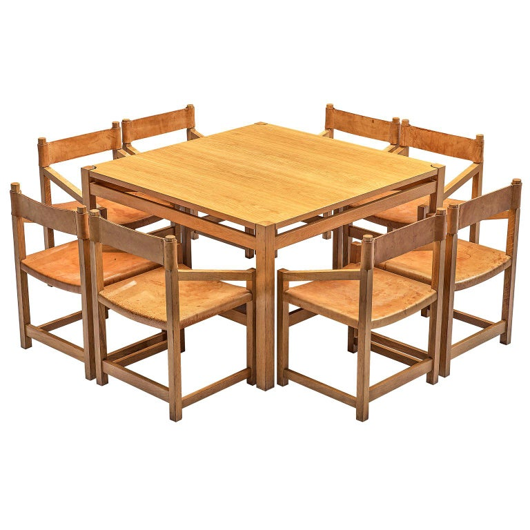 Jordi Casablanca Muntañola Dining Set in Pine with 'S5' Armchairs For Sale