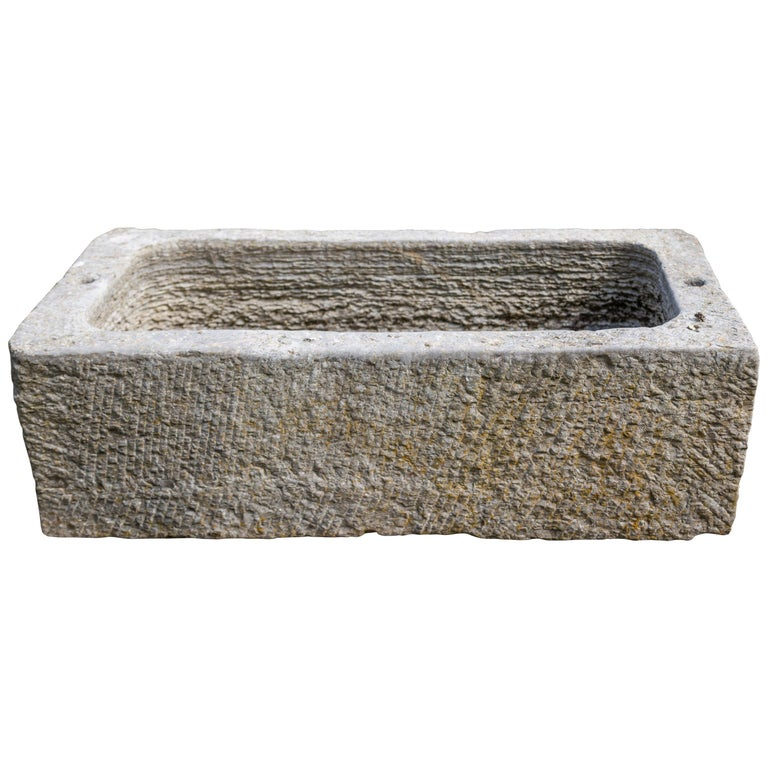 Marble Bath, 19th Century, Planter 42 Inches Long For Sale