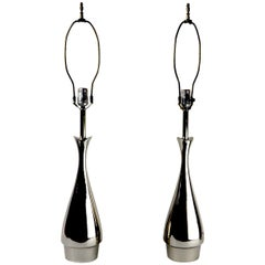 Pair of Teardrop Form Laurel Lamps Attributed to Tony Paul
