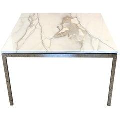 Classic Knoll Carrara Marble Table