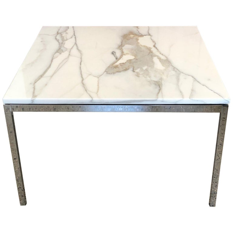 Classic Carrara Marble Bathrooms: Classic Knoll Carrara Marble Table For Sale At 1stdibs