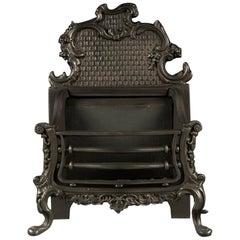 Antique Cast Iron Rococo Manner Fire Basket