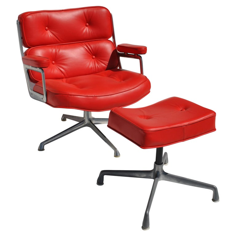 One Set Herman Miller Time Life Lounge Chair and Ottoman