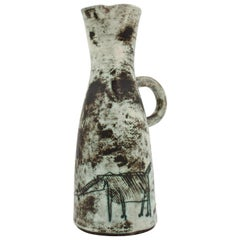 Midcentury French Ceramic Pitcher by Jacques Blin, 1950s