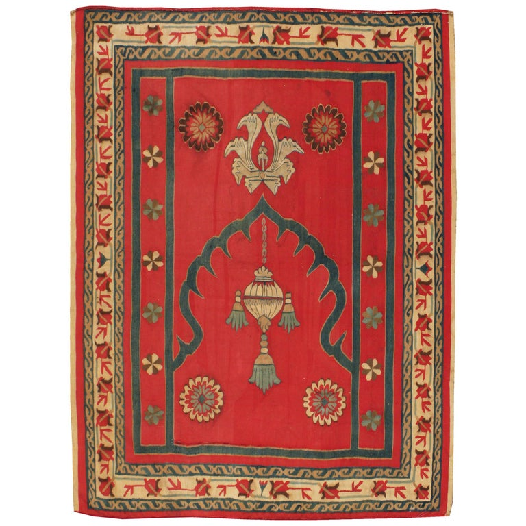 Antique Indian Dhurrie Rug For Sale at