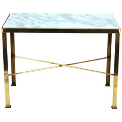 Mid-Century Modern Diminutive Side Table with Marble Top