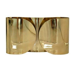 "Mid-Century Modern Tobia Scarpa Model ""Foglia"" Made of Brass Italian Sconces"