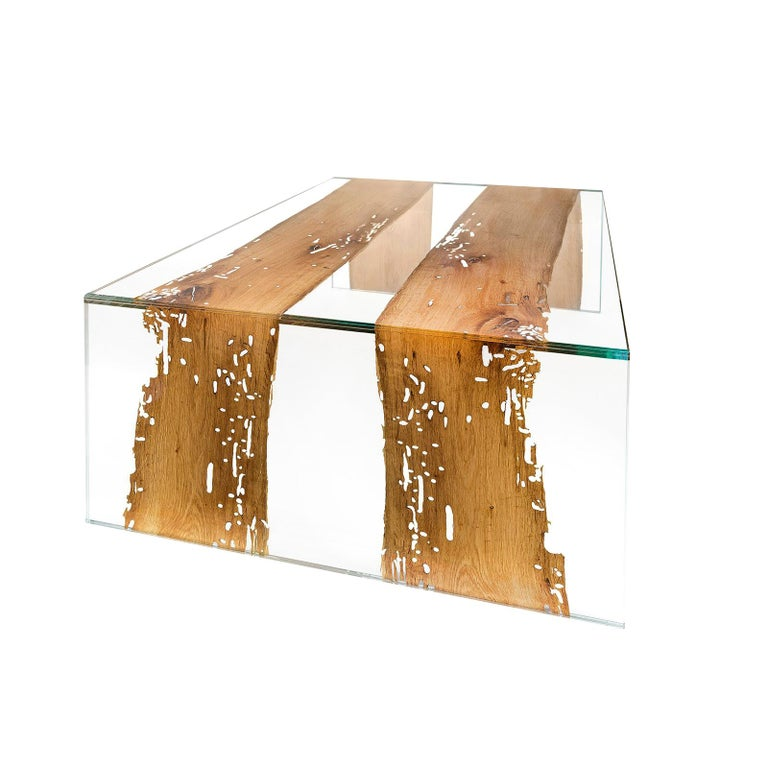Coffee Table Venezia, in Glass and Venetian Briccola, Italy For Sale