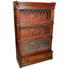 Antique Mahogany Globe Wernicke Bookcase, Special Edition