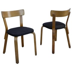 Early Bentwood No. 69 Chairs by Alvar Aalto for Artek