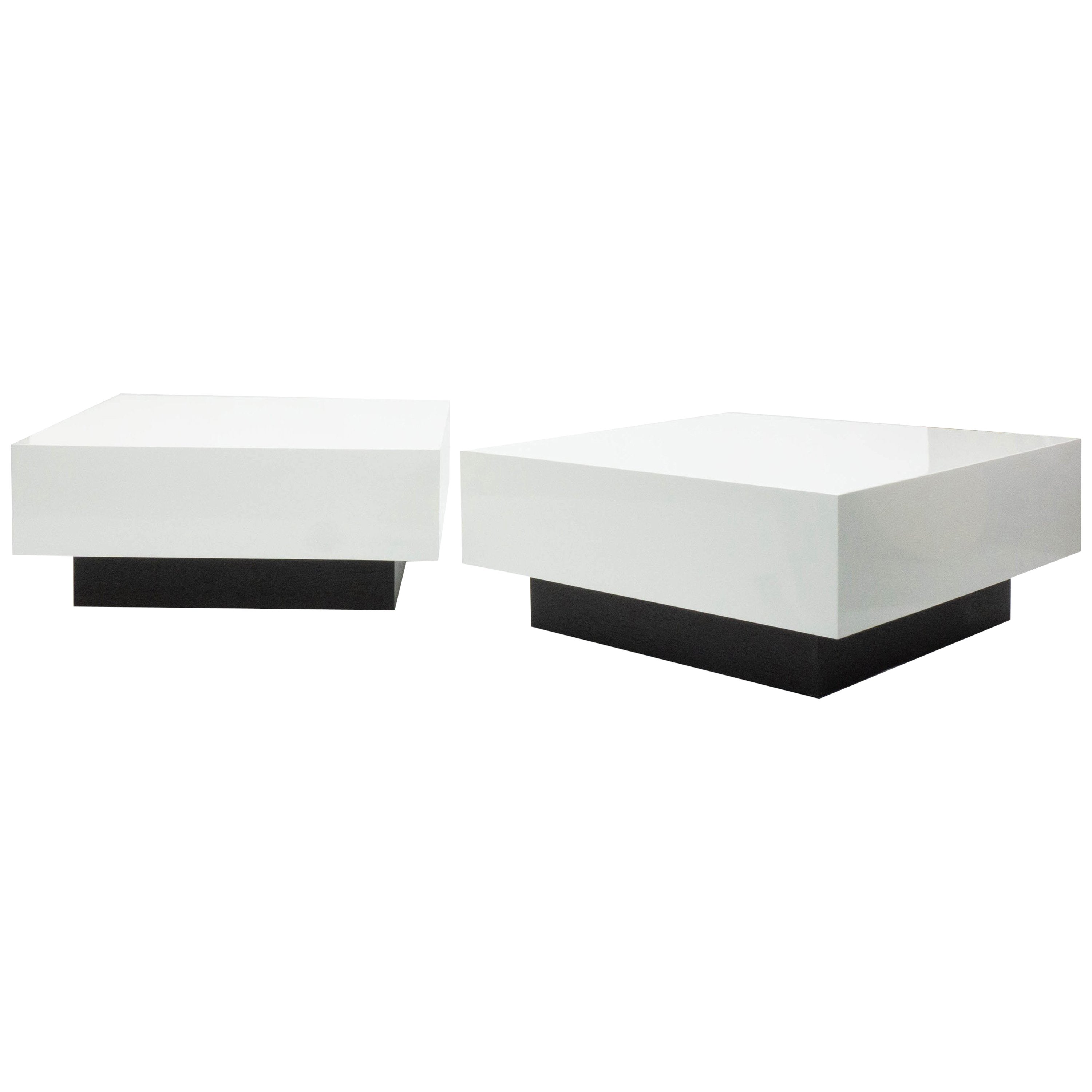 Modern Lacquered Square Coffee Table