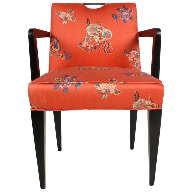 Edward J. Wormley for Dunbar Brass Handle Armchair For Sale