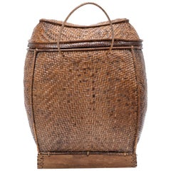Filipino Woven Rattan Pack Basket