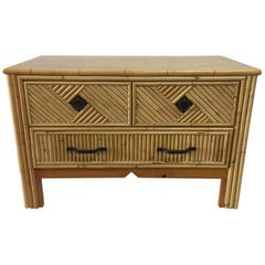Vintage Bamboo Low Commode