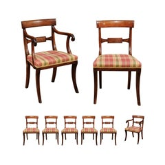 Set of 6 Regency English Mahogany Dining Chairs