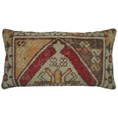 Large Vintage Turkish Bolster Size Rug Pillow