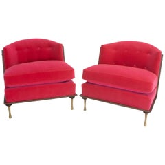 Art Deco Inspired Slipper Chairs