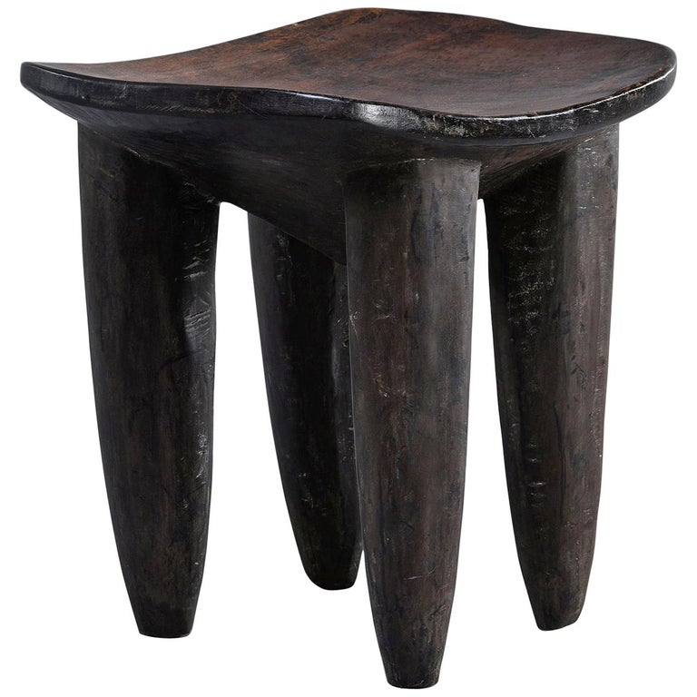 Senufo Hand Carved Side Table or Stool