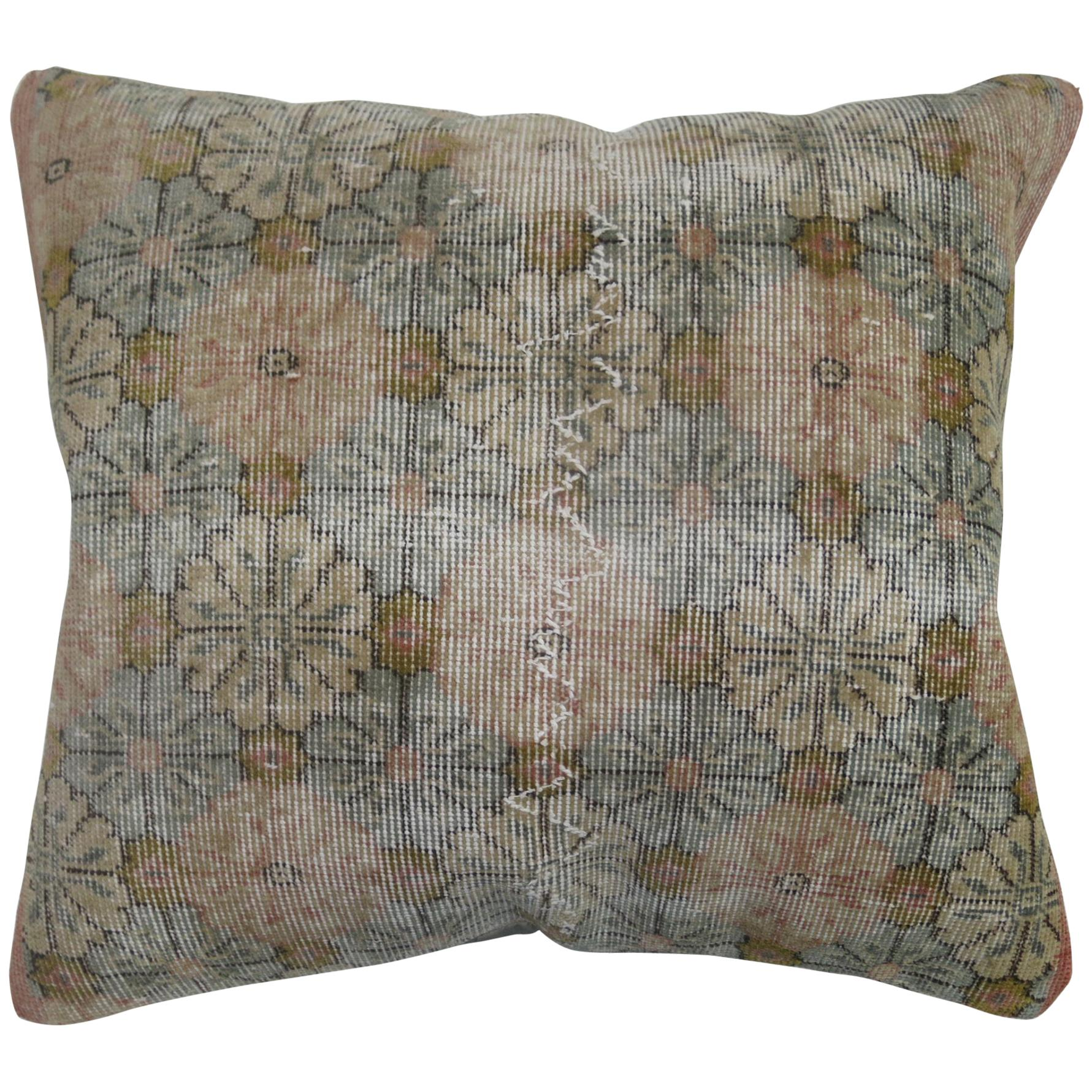 Large Distressed Turkish Deco Pillow