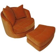 Milo Baughman for Thayer Coggin Swivel Tub Chair Available in COM