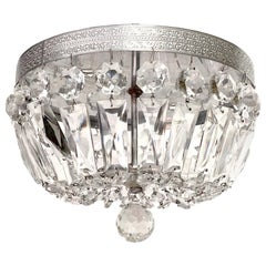 Set of 3 Crystal Flush Mount Fixtures, Sold Individually