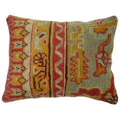 Antique Oushak Border Pillow