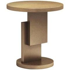 Gold/Copper Round Top Stack Side Table Geometric Customizable