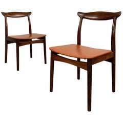 Pair Of Eric Wørts Model 112 Rosewood Cow Horn Side Chairs