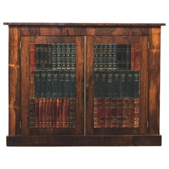 19th Century English Rosewood Faux Book Cabinet