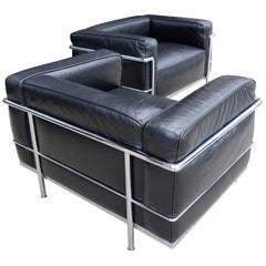 Up to 6 Midcentury LC3 Chairs by Le Corbusier for Cassina
