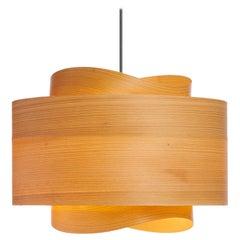 Bowen Custom Cypress Wood Drum Chandelier Pendant