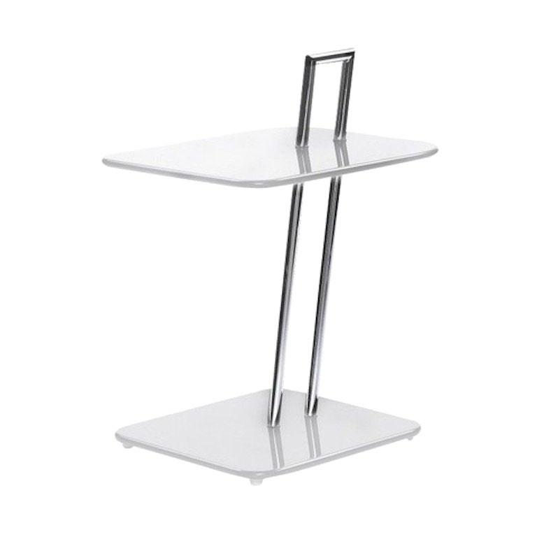 ClassiCon Occasional Rectangular Side Table in White by Eileen Gray