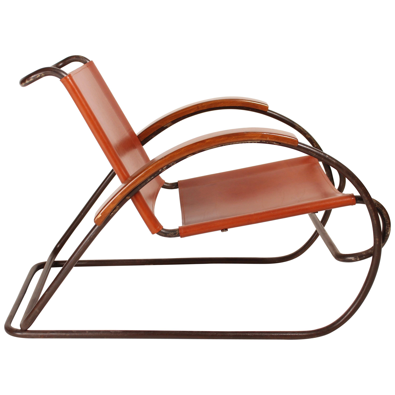 Bauhaus Steel Tubing Armchair Modèle 8319 by Erich Dieckmann, 1931