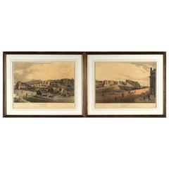 19th Century Pair of Aquatint Engravings Depicting Edinburgh