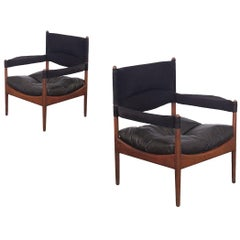 Pair of Kristian Vedel High-Back Modus Lounge Chairs