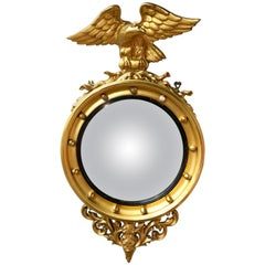 Historic Gilt Gold Federal Eagle Wall Mirror Architectural Digest