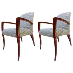Pair of Kenneth Winslow Studio Crafted Armchairs