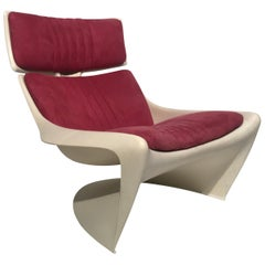 "Iconic Space Age ""Meteor"" Lounge Chair by Steen Ostergaard for Cado, Denmark"