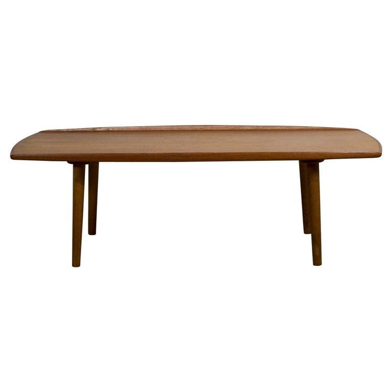 Mid Century Surfboard Coffee Table At 1stdibs: Mid-Century Modern Trioh-Mobler Teak Surfboard Coffee