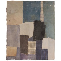 """Chinese Collaged, Ge Ba Textile """"Paintings"""" Made by Anonymous Women, 1950s"""
