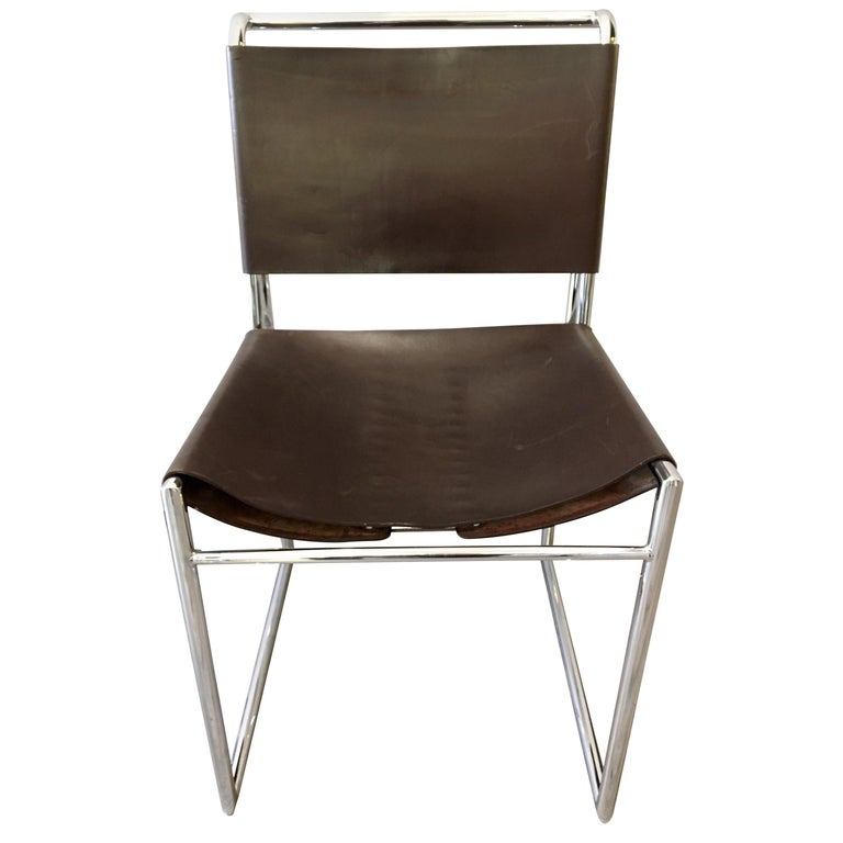Swell Marcel Breuer Mid Century B40 Brown Leather With Corset Pdpeps Interior Chair Design Pdpepsorg