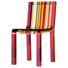 Rainbow Chair by Patrick Norguet for Cappellini 2000 Multi-Color Lucite Acrylic