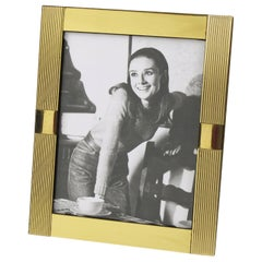 Italian Designer Noel B.C. 1970s Modernist Brass Picture Photo Frame