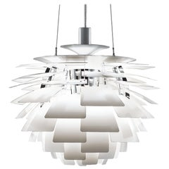 PH Artichoke Pendant Light by Poul Henningsen, Louis Poulsen, White, 1958