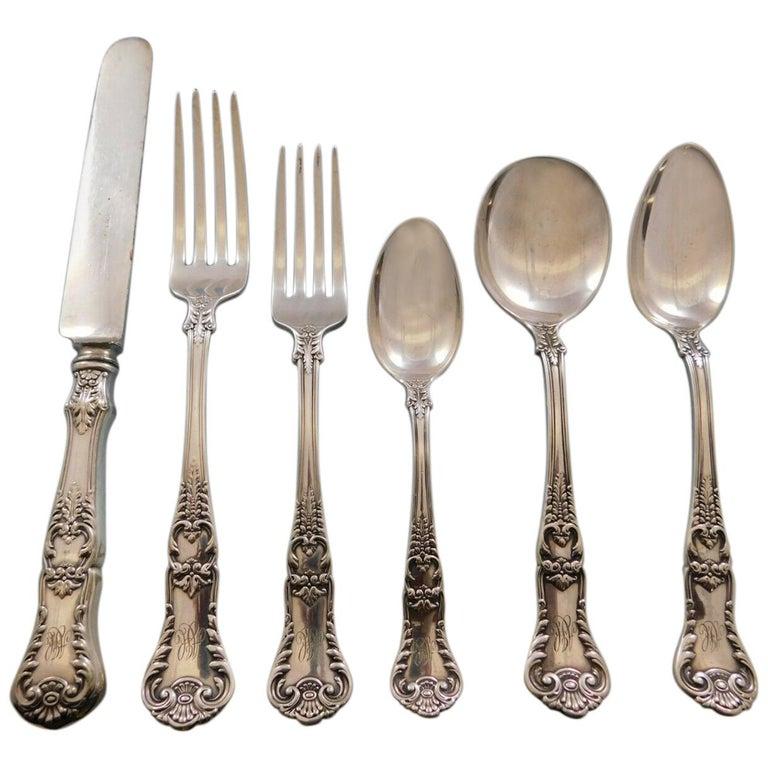 Richmond by Gorham Silver Plate Flatware Set Service 36 Pieces Dinner For Sale