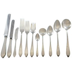 Feather Edge by Tiffany Sterling Silver Flatware Service 8 Set 93 Pc Dinner